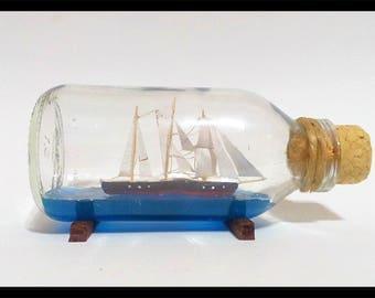 Ship In a Bottle - Ship - Bottle Ship - Sail Ship Model - Handmade - Ship in the bottle - Ships - Ship inside bottle