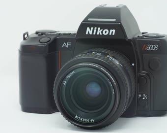 Nikon N8008 Film Camera w/SB-24 Flash