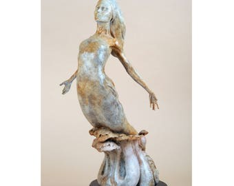 Limited Edition contemporary bronze figure titled Spirit.