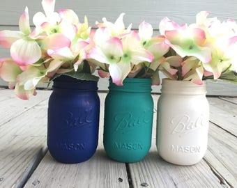 Mason Jar Decor, Painted Mason Jars, Bulk Mason Jars, Custom Made Mason Jars, Vibrant Arrangements, Ombre Decor
