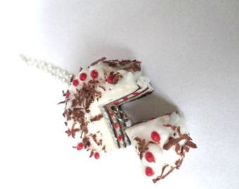Necklace and its share of Black Forest in Fimo