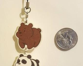 We Bare Bears Linked Shrinky Dink Keychain