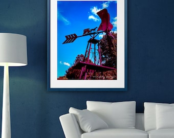 Windmill with Horse and Carriage photography art; digital wall art decor; instant download prints