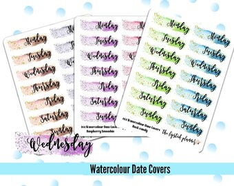 064 Watercolour Date Covers