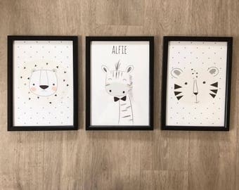 Set of 3 Nursery Prints