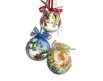 Set Christmas tree toys Victorian Christmas 2018 gift santa holiday Fairytale Tassel gift wife Focus toy Special needs mom Sister boho