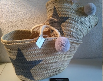 Basket/bag mother/daughter, Star and tassel duo the hearty grey