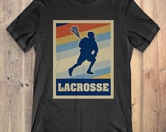 Lacrosse T-Shirt Gift: Vintage Style Lacrosse