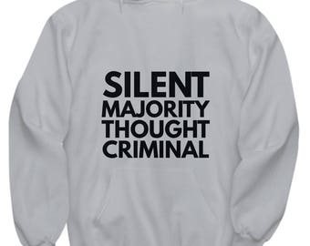 Silent Majority Thought Criminal - Hoodie - Gray
