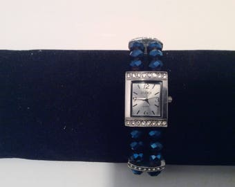 Vintage Woman's Studio Time Bracelet BeadedQuartz  Watch