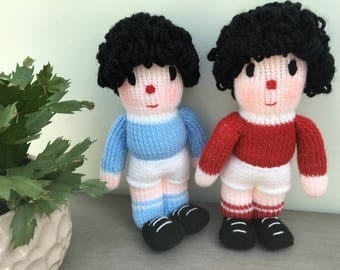 Hand Knitted Football Player