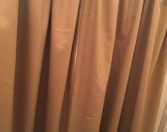Pencil headed curtains