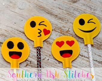 DIGITAL DOWNLOAD - Happy Emoji Pencil Topper Set
