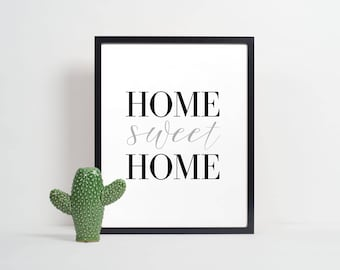 Home Sweet Home Print | Home Print | Quote Print | Home Printable | Home Printable Art | Printable Art | Family Printable | Instant Download