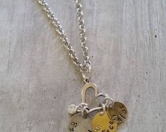 3 personalized pendant necklace