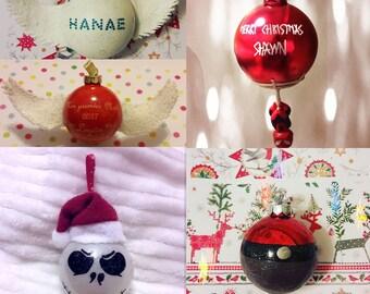 Ball personalized Christmas Decor