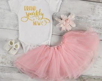 Brand Sparkly New Baby Bodysuit, Baby Girl, Baby Clothes, Baby Gift, Baby Shower, Newborn