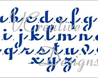 Penscript Alphabet stencil