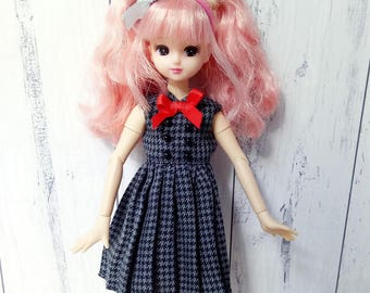 Blythe, Azone, Licca Checkered Dress Outfit 1/6 scale