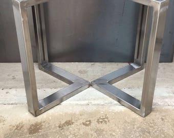 L shape metal legs, set of 2, metal legs, metal table legs, coffee table legs, steel table legs, bench legs