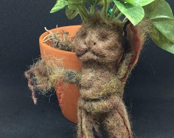 Needle Felted Baby Mandrake 2