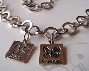 "unique mixed friendship Necklace: chain wholesale rings, medals ""best friends"""