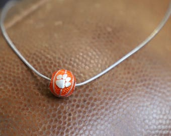 Clemson University, Officially Licensed, Clemson Tigers, Women's and Men's Basketball, Charm, Necklace, Pendant