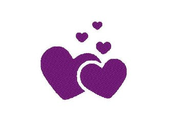 Embroidery hearts design comes in 10 formats