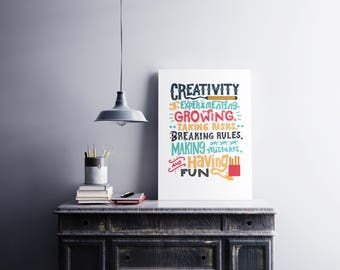 Creativity Quote, Printable Instant Download