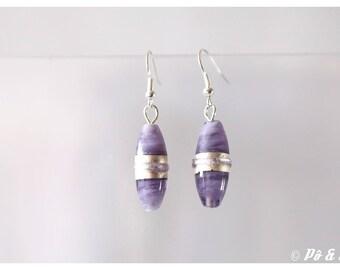 Purple #0909 Czech glass earrings