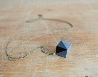 Necklace CUBE black black