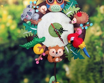 DIY Kit Forest Party Wall Clock