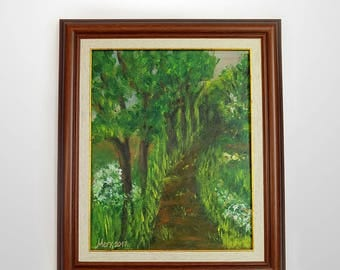 On the trail – scenery. The painting is with a PVC frame. It is suitable for a gift to a friend or just being in your office or home