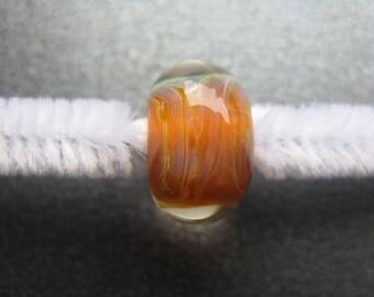 BORO Lampwork Focal Bead, Handmade Lampwork Focal Bead, Lampwork Focal Bead, Topaz, Golden Yellow, Opals, OOAK Artisan Lampwork Bead- HGD490