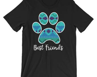 Best Friends Paw Print Dog Lover T-Shirt