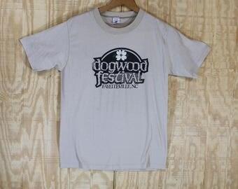 Vintage 1980's Dogwood Festival Fayetteville NC Soffe 50/50 T Shirt Tshirt Tee Small Medium S / M