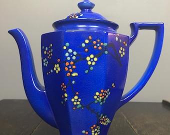 Antique Cobalt Blue Porcelain Teapot