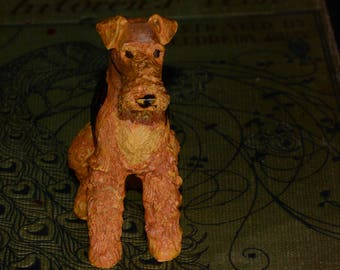 Sandicast Lakekand Terrier, small size sculpture, DOG Figurine, Statue, Hand Painted, Resin, Replica Realistic, Gift Pet Lovers, Collectible