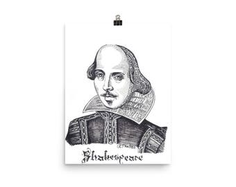 Shakespeare and his Words Poster