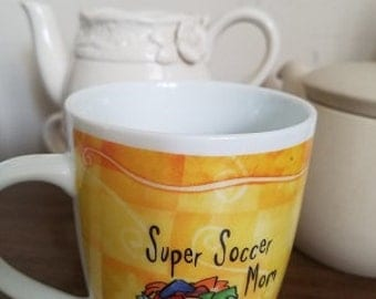 Soccer Mom cup,  Soccer Mom coffee cup, soccer Mom , yellow coffee cup, Moms cup,  Moms gift,  Soccer,