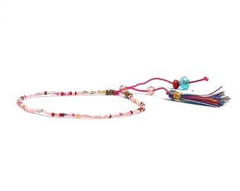 Beaded bracelet and Bohemian style tassel