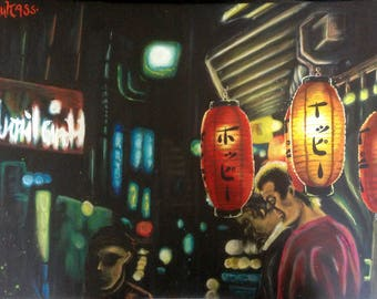 Yokohama glow , acryl painting