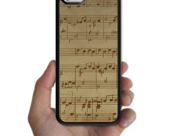 iPhone X 8 8 plus case 7 7 plus 6s plus 6s 6 plus 6 SE 5s 5 5c 4s 4 cover vintage piano Music score paper case for apple