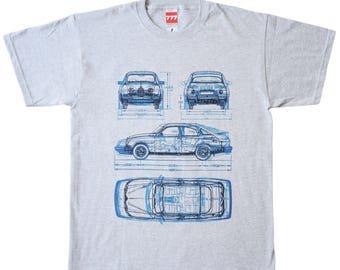SAAB gray tshirt 96 900 9-3 sweden swedish classic car vintage