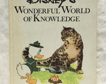 Disney's Wonderful World Of Knowledge: Animals||1973 vintage book, collectible, children's book, animal book, picture book, Disney book