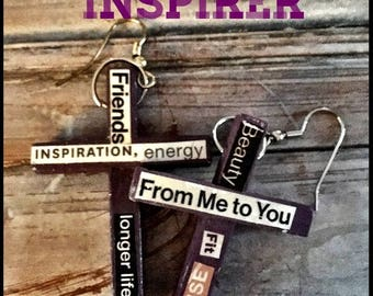 Purple Cross Earrings The Inspirer #11