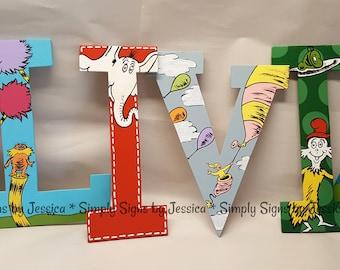 dr seuss nursery lettering