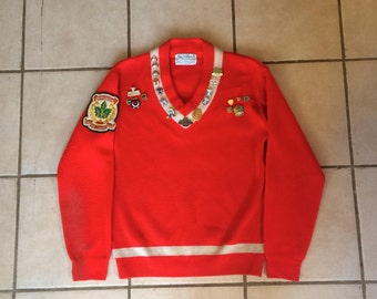 Incredible Curling Sweater with Pins