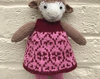 Handmade Knitted Lamb