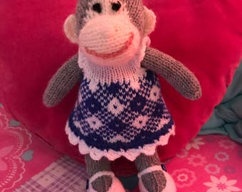 Handmade Knitted Monkey